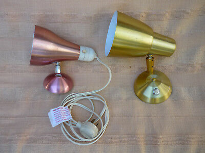 Vintage Anodised Bed lamps x 2 - for parts