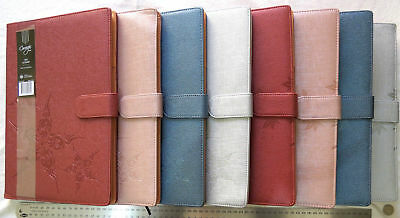 2018 Diary A5 Day to a Page PU Leather Embossed Cover w Magnetic Clasp
