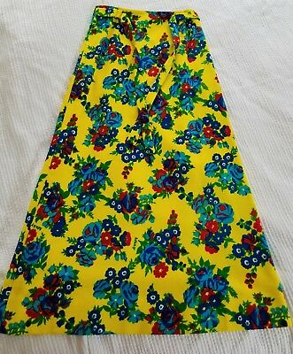 Vintage 1960's LILLY PULITZER Long Maxi Skirt - Bright Vibrant Floral Pattern