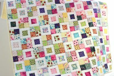 SCRAPPY 4 PATCH ~ New Handmade Baby Girl Quilt