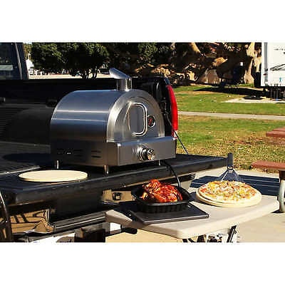 Portable Outdoor Pizza Oven Stainless Steel 12,000 BTU Tabletop Propane Oven NEW