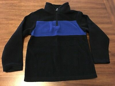 The Childrens Place - Boys Size (S) 5/6 -Black/Blue Fleece Pullover