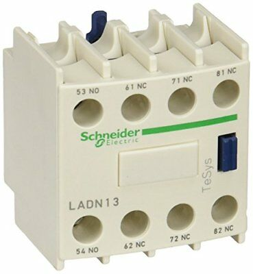 Schneider Electric LADN13 bloc de contacts auxiliaires TeSys, 1 F + 3 O, born...