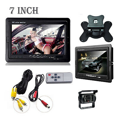 """Wired IR Rear View Back up Camera Night Vision System+7"""" Monitor for RV Truck"""