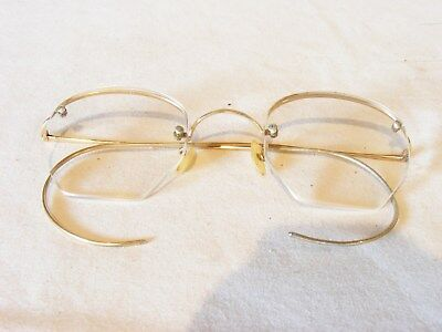 Early 1900s Algha  spectacles glasses excellent cond made in england