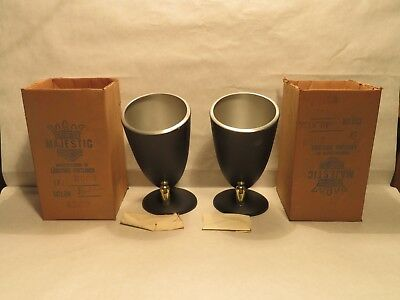 Vintage Mid-Century Modern Majestic #3003 Sconce Swivel Cone Wall Lamps New