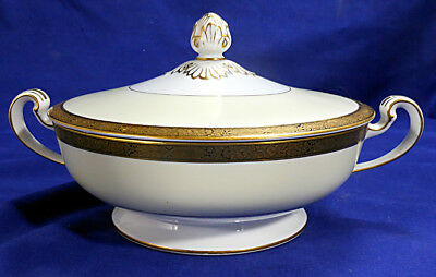 Noritake GOLDKIN Round Covered Vegetable Bowl, Pattern #4985