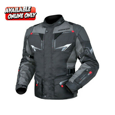 Dririder Nordic 3 road textile motorcycle jacket grey blk ALL SIZES RRP $330