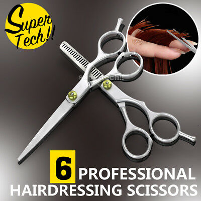 6'' Barber Shears Hair Cutting Thinning Scissors Professional Salon Set AU