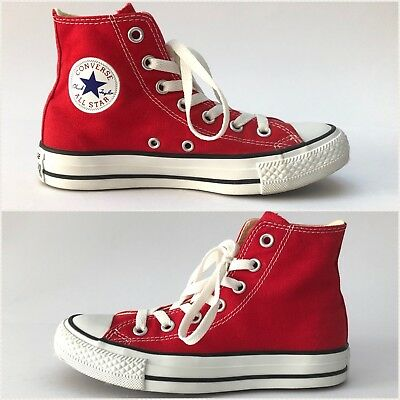 CONVERSE Size Womens 5 Red Chuck Taylor All Star Hi Tops High Sneakers Shoes