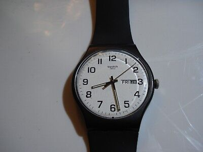 Rare Large Vintage Men's Swatch Watch Day Date Swiss Made great condition