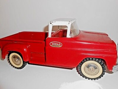 Vintage 1960's Tonka Step Side Pick-Up Truck Made of Pressed Steel