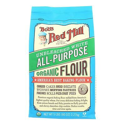 Bob's Red Mill Organic Unbleached White All-Purpose Flour - 5 lb - Case of 4