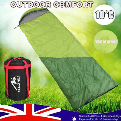 -20°C Outdoor Camping Sleeping Bag Single Envelope Tent Hiking Thermal Winter