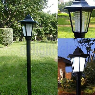 Solar Power LED Path Way Wall Landscape Mount Garden Fence Outdoor Lamp Light DH