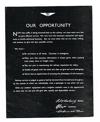 Victorian Railways Our Opportunity leaflet