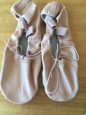 Girls' Leather Ballet Dance Shoes Size 3 (New)