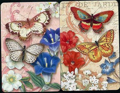 Flowers And Butterfly Swap Card Pair (New)