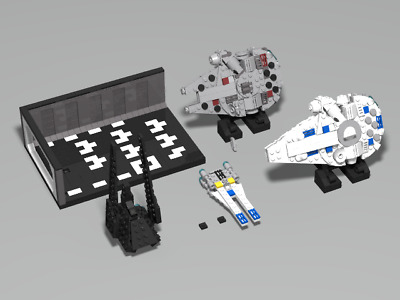 Lego Star Wars Moc Collection Kessel Run Falcon And More Pdf Instructions Only