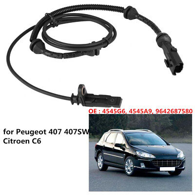 Car Front ABS Wheel Speed Sensor for Peugeot 407 407SW Citroen C6 4545G6 4545A9
