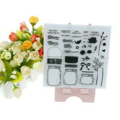 Vivid Perfume Bottle Scrapbook Diy Photo Albums Cards Silico Transparent Stamp X