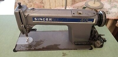 SINGER 491 w/Table Industrial/Commercial Sewing Machine
