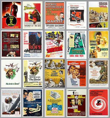 Alfred Hitchcock Movie & Film Posters Prints  A4 A3