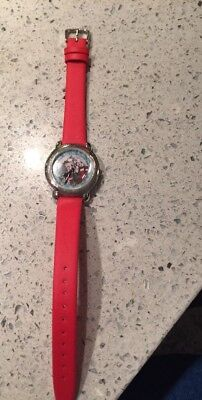 ~Willabee and Ward~ Betty Boop Christmas Watch - Red Strap - Pre-owned