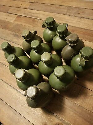 1ltr army air force navy cadet water bottle canteen green olive drab