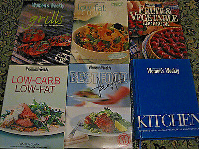 6 X  Womens Weekly Cook Books Including 687 Page Hardcover Test Kitchen Book