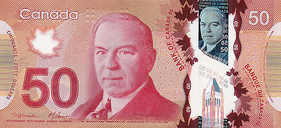 CANADA $50 / POLYMER 2012 / AUnc condition. Real Beqauty!