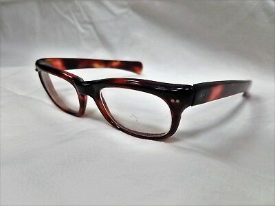 True Vintage Horn Rim Eyeglasses  Burgundy Marbled Thick