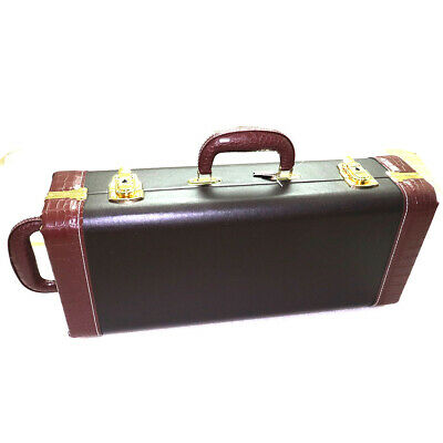 Leather Water-resistance Trumpet Gig Bag Case Box Lock Hard Protective Durable