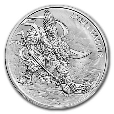 2017 South Korea 1 Clay ZI:SIN Gallus 1 oz .999 Silver Coin