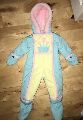Vintage Baby Winter Snow Suit Quiltex One-Piece 12 months