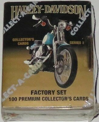 1992 Harley-Davidson Collect-A-Card Series 2 100-Card Fact Boxed Set BN & Sealed