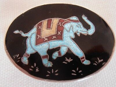 Indian Silver Enamel Pill / Snuff Box