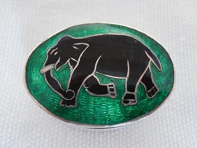 Vintage Indian Silver Enamel Pill / Snuff Box