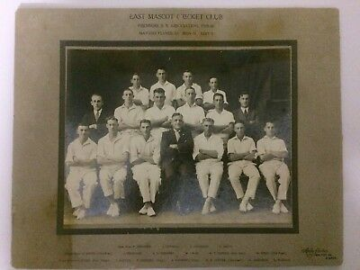 Original Vintage 1929-30  East Mascot Cricket Club Photo