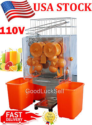 Commercial Electric Orange Squeezer Juice Fruit Maker Juicer Press Machine 110V