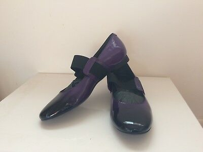 Amber Rossi Ladies Shoes Patent Leather Purple Italian Made size 39 RRP $369