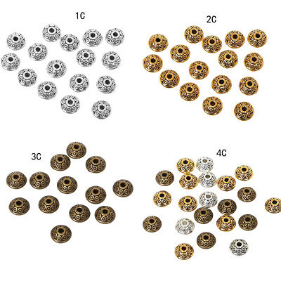 100PCS 6mm Antique Silver Loose Round Spacer DIY Beads Charm Making Jewelry AU