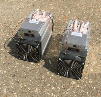 Two Bitmain Antminer D3 19.3GH/s ASIC Crypto Currency Miners
