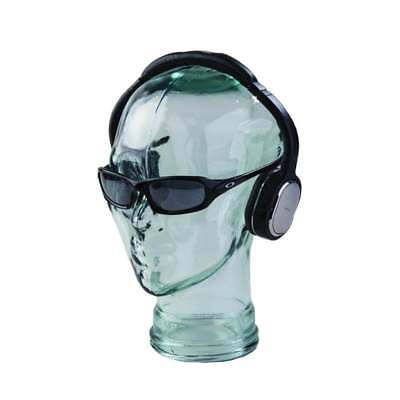 Glass display head - Unisex mannequin head - made from clear recycled glass