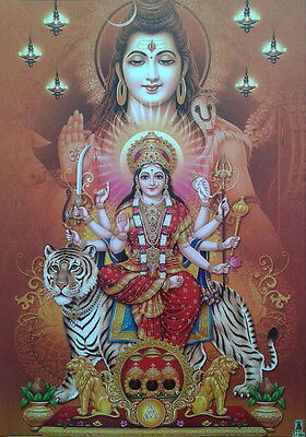 Lord Shiva, Durga (Parvati) Maa - POSTER (Normal Paper Size: 10x14 Inches)