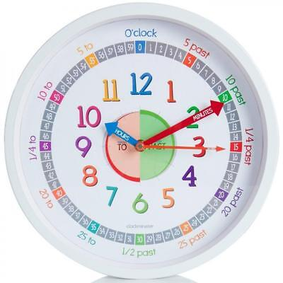 Time Teacher Wall Clock for Kids with Silent Non Ticking Sweep Quartz...