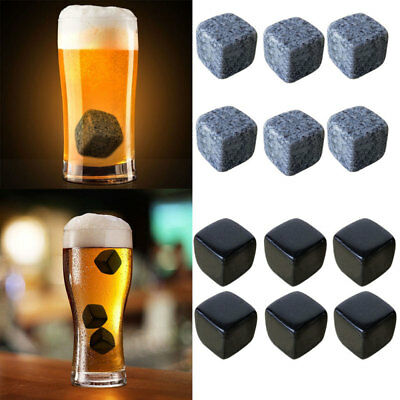 Whisky Ice Stone Tartrate Wine Drinks Cooler Cubes Whiskey Rocks Granite Pouch