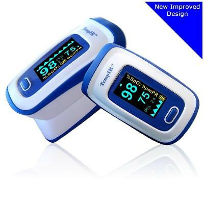 Premium Pulse Oximeter - Finger TempIR Handheld Portable Digital Blood...