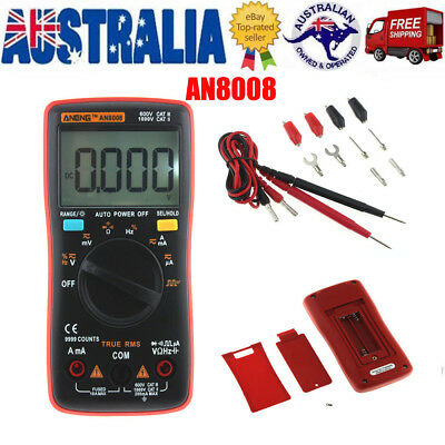 ANENG AN8008 DMM Digital Multimeter AC/DC Voltage Ammeter Current Ohm Meter  AU