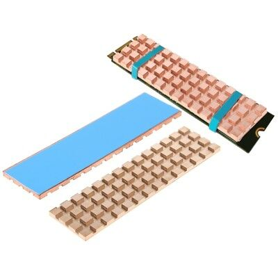 Copper Heatsink Thermal Conductive Adhesive For 2mm M.2 NGFF 2280 PCI-E NVME SSD